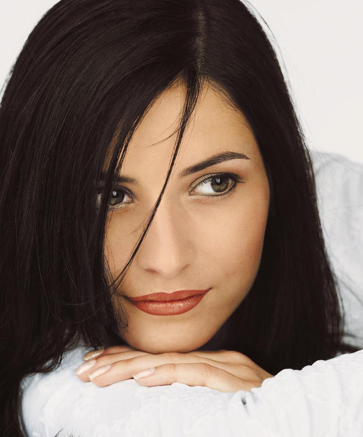 Model mit Permanent Make-up